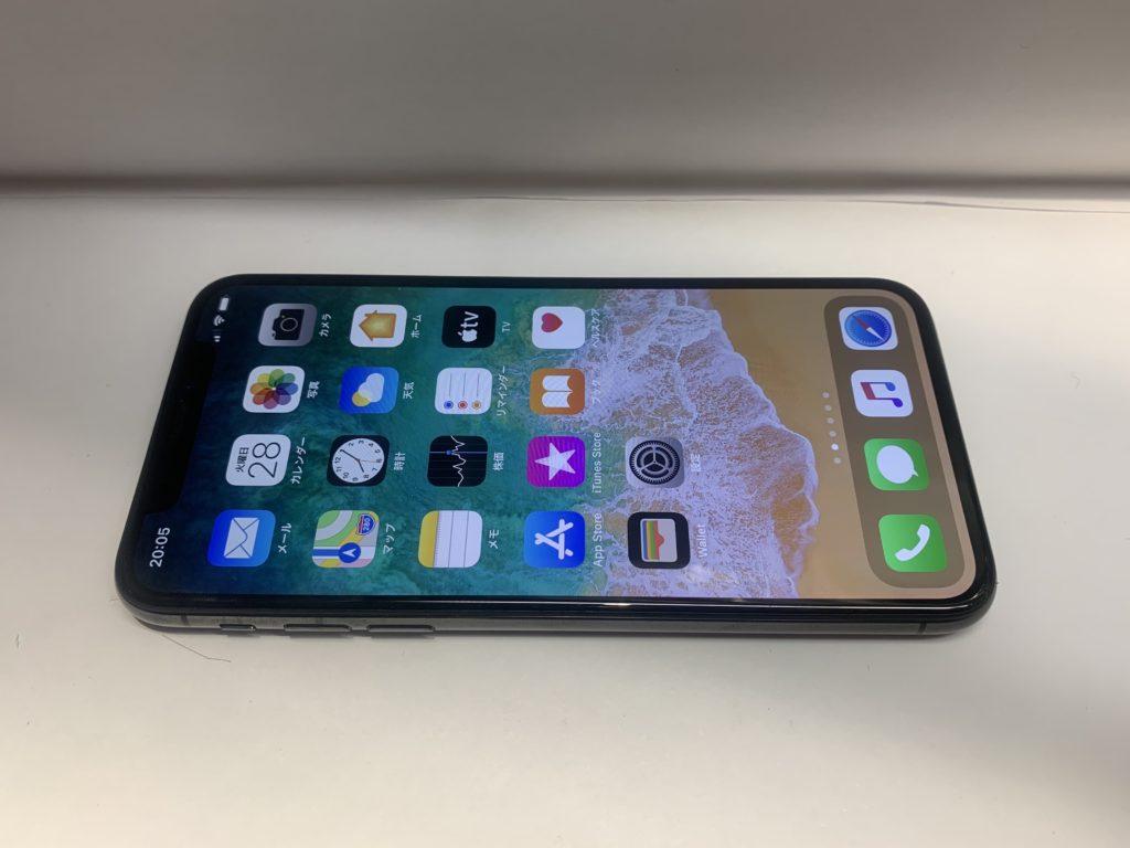 スマートドクタープロの修理により無事起動したiPhoneXの様子