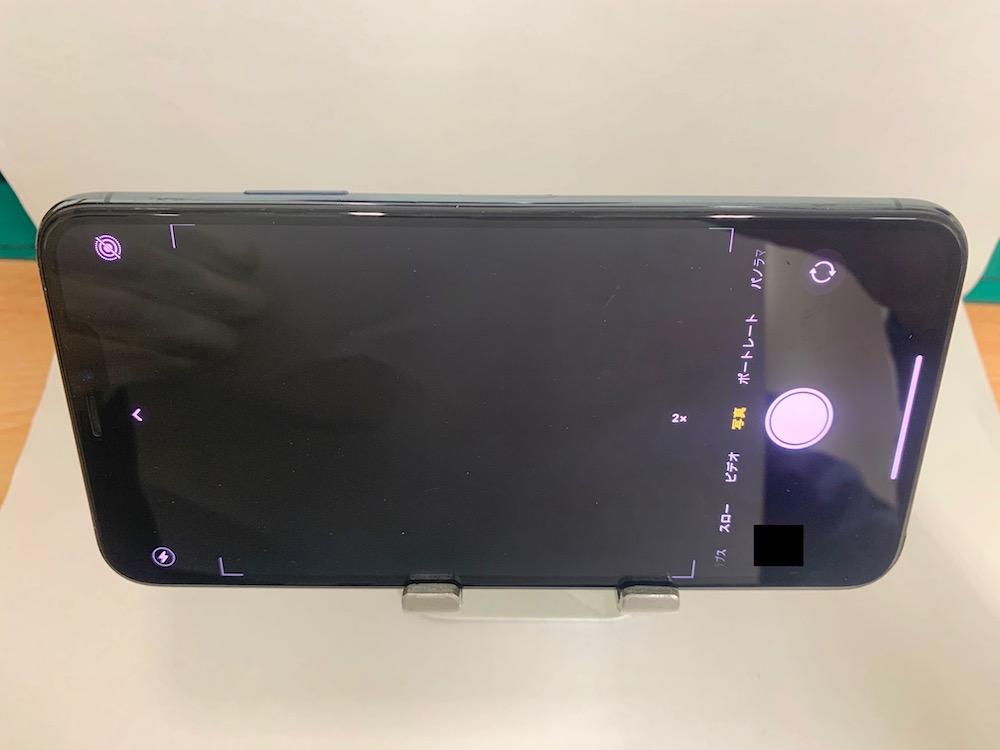 実際に修理したiPhone11Pro Maxのアウトカメラ起動時の様子