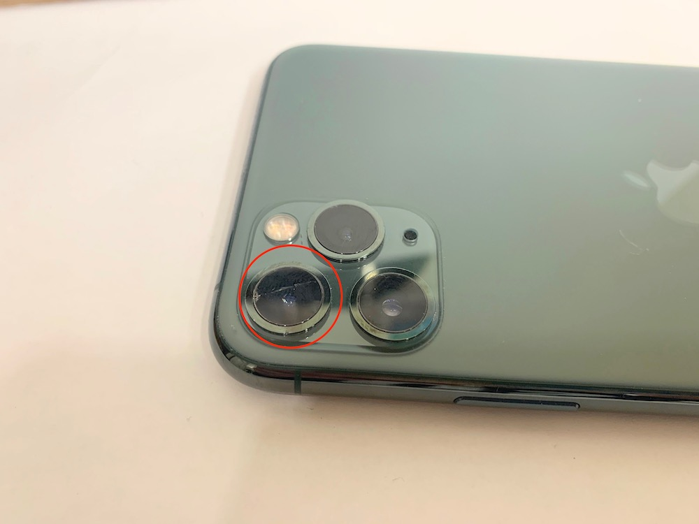 iPhone11Pro Maxのアウトカメラレンズ部分を拡大した写真