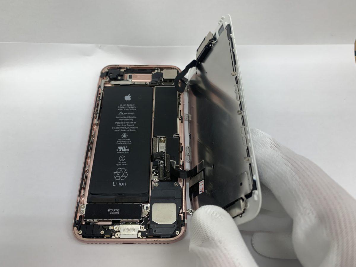 実際に分解したiPhone7の内部の様子