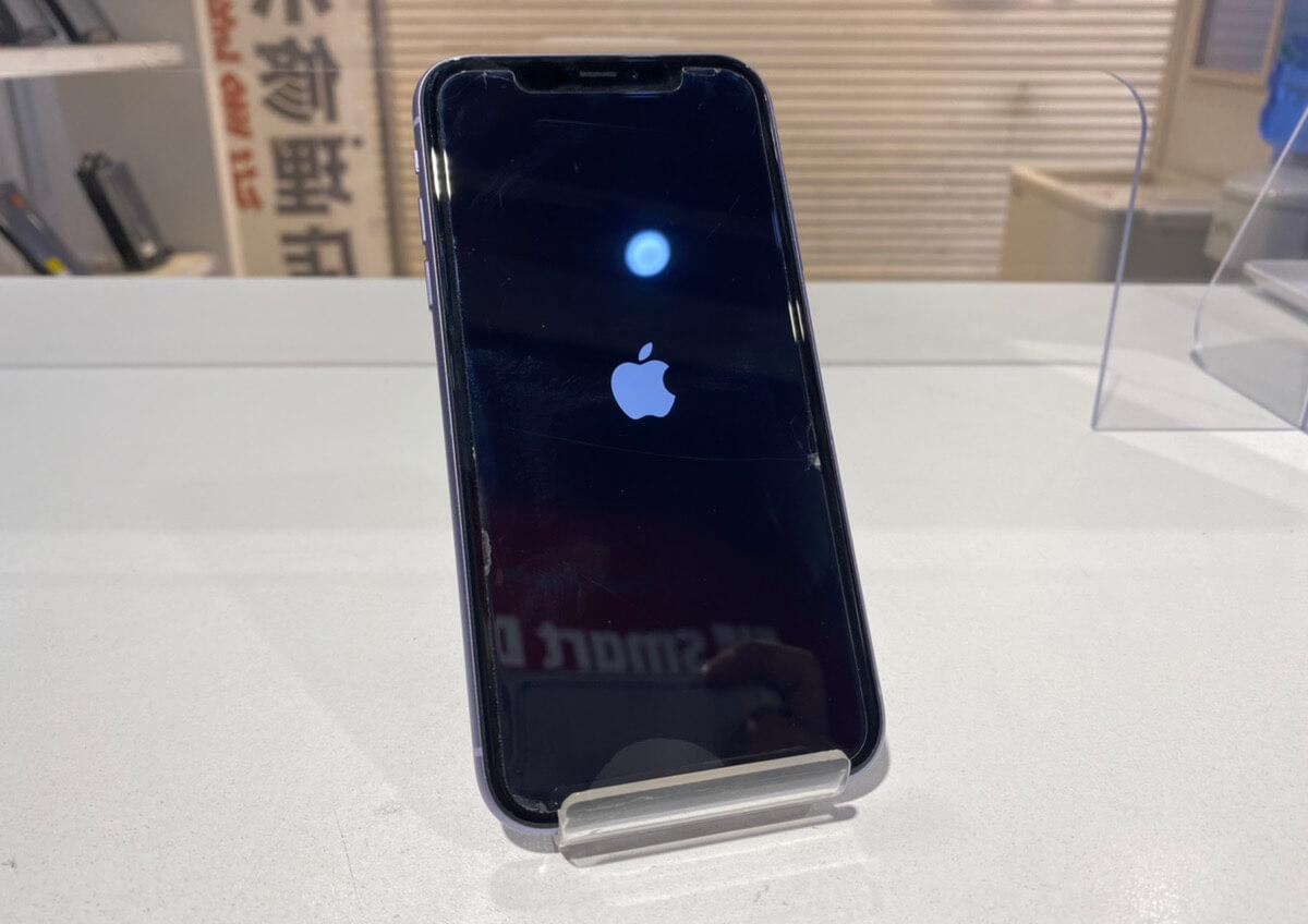 写真は、修理後のiPhone11です。
