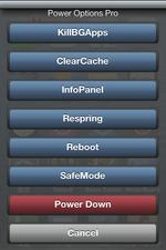 スリープボタン長押しに拡張メニューを追加するJBアプリ♪